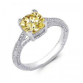 canary yellow diamond engagement ring atlanta