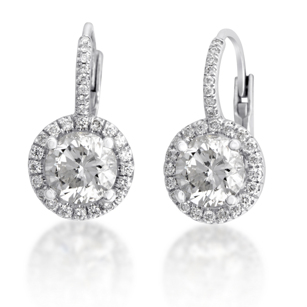 dangling diamond earrings atlanta