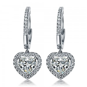 heart diamond earrings atlanta