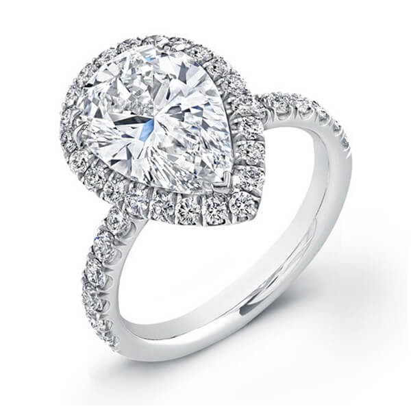 pear woman diamond engagement ring atlanta