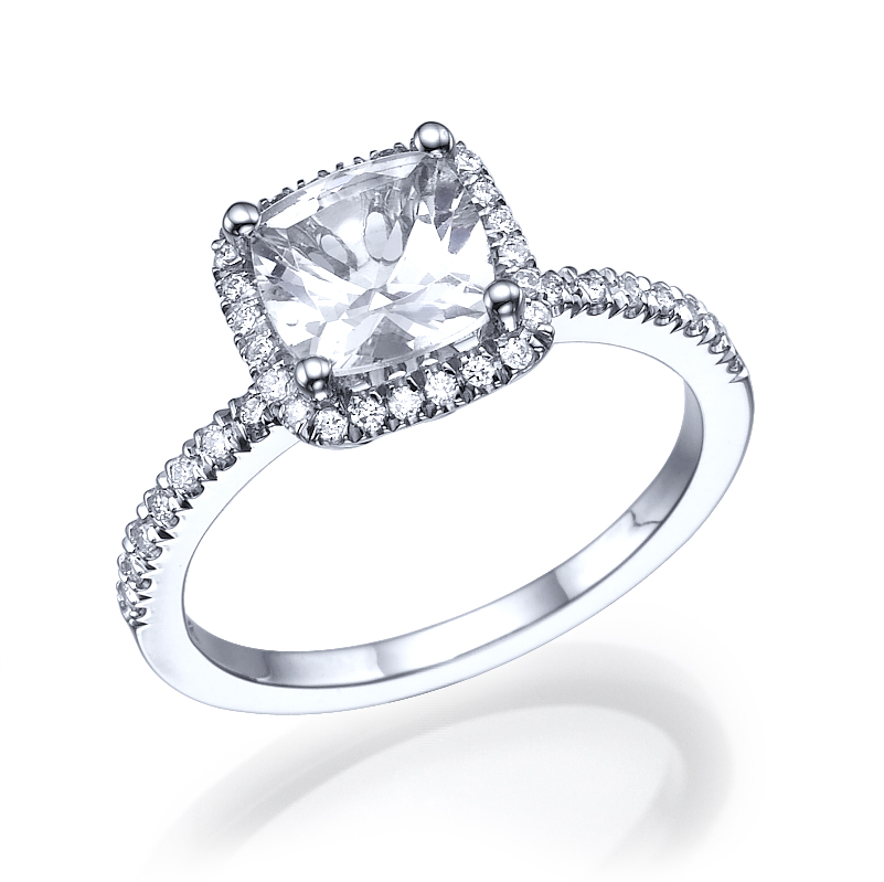 square woman diamond engagement ring atlanta