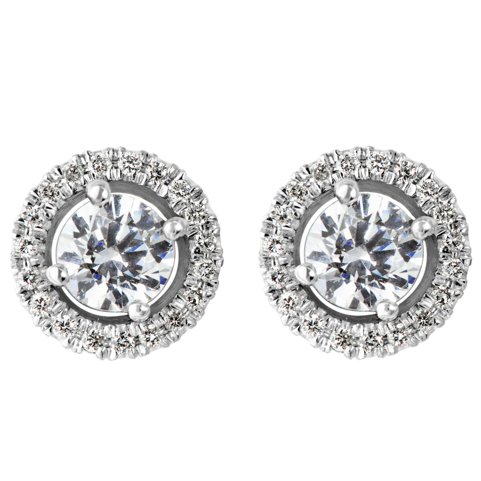 stud diamond earrings atlanta