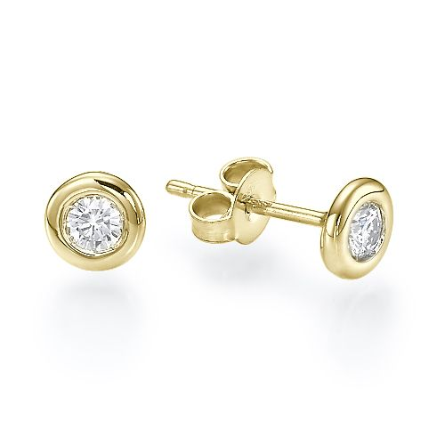 stud diamond earrings atlanta yellow gold