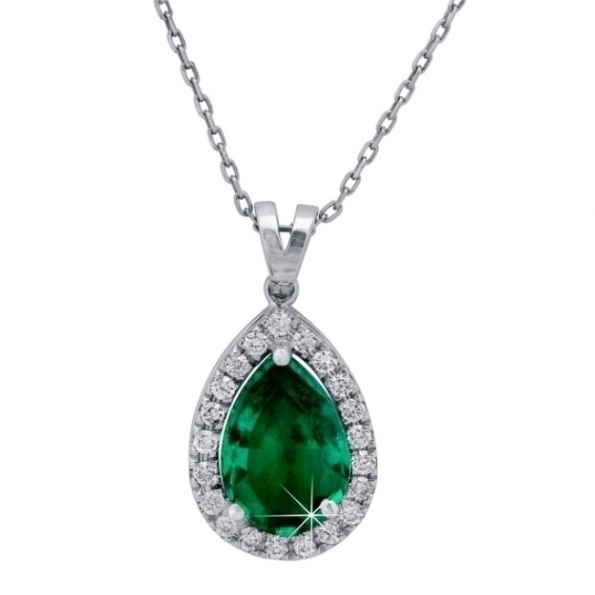 women diamonds necklace emerald atlanta
